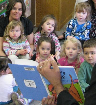 Child care with children reading
