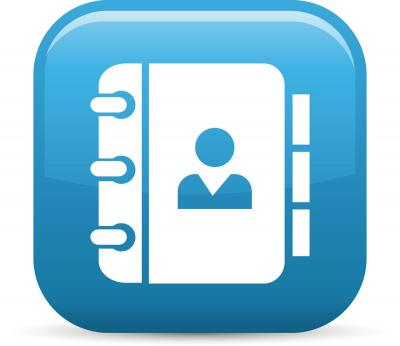 Contact/address book icon