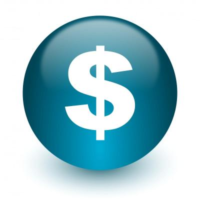 Graphic - blue circle with dollar sign