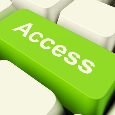 Green access computer key image