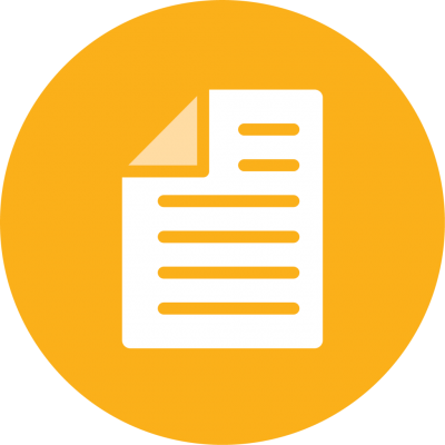 yellow icon that looks like a document