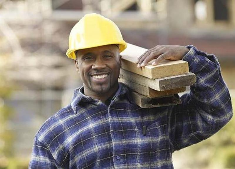 Man working at a construction site