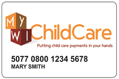 MyWIChildCare EBT Card Sample
