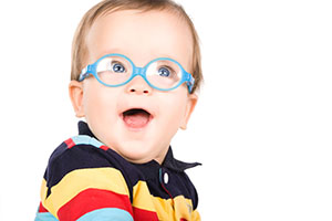 Little boy with blue glasses