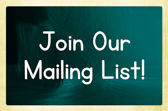 Join our child care email list!