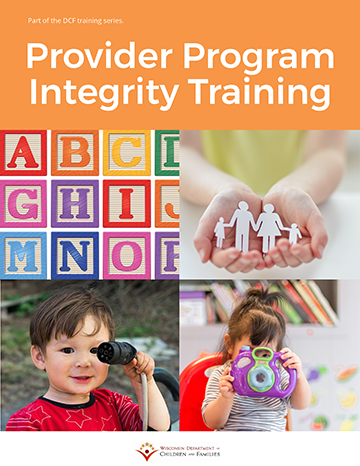 Cover image of Wisconsin Shares Program Integrity Provider Training booklet